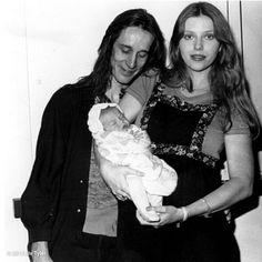 Todd Rundgren, Bebe Buell, and baby Liv Tyler.