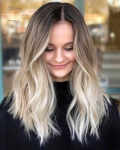 20 Best Balayage Haircuts 2019 – New Balayage Hair Color. Balayage hair makes it easy to get that trendy look! Mix ashy blonde tones with your dark brown base for a style that will surely occupy the space. Cute Hair Colors, Cool Hair Color, Hair Colours, Trendy Hair Colors, Brown Hair With Highlights, Brown Blonde Hair, Bronze Highlights, Ombre Highlights, Blonde Brunette