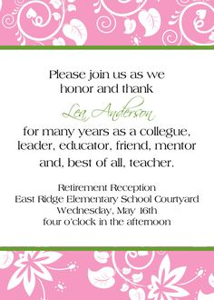 Free Printable Retirement Party Invitations Templates Betsys - Retirement party invitations templates