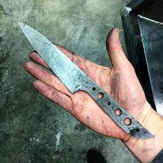 Kitchen utility knife out of the quench. I've got two of these coming down the pipe that will be up for grabs. Stay tuned.  #knifemaking #knifestagram #knifefanatics #knifecommunity #originblades #handmade