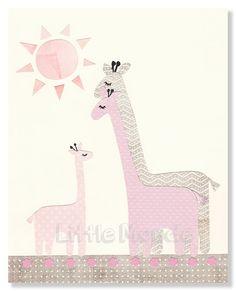 Baby Girl Nursery Prints Nursery Wall Decor Pink by LittleMonde