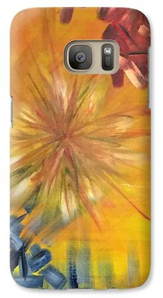 Wonder Abstract (modern art): A design by Kelly Goss Art printed onto Samsung Galaxy cases - directly onto and wrapped around the edges. For various Galaxy models. Impact-resistant, hard-shell.