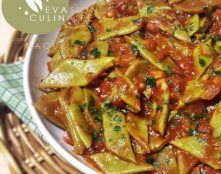 haricots plats a la tomate {cuisine libanaise}