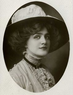 Lily Elsie hair with hat edwardian
