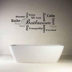 Bathroom Wall Quote Modern Word Cloud Montage Vinyl By GDirect,