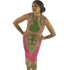 2017 Sexy Women Summer Raditional African Print V-Neck suit Bodycon Casual top and skirt sleeveless round collar Dashiki clothes