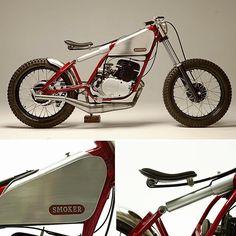 "chrismbartlett: """"Smoker"" 1979 Yamaha DT250 by Utopian Customs. (Via Rocket Garage Café Racer). #yamaha #motorcycle #caferacer #motorsports #tw by megadeluxe http://ift.tt/1PtmRe1 """