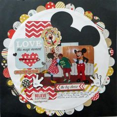Love this magic moment - Scrapbook.com--I really like the big circle surrounded by all the little circles