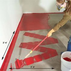 How to Epoxy a garage floor...wouldn't it be cool to have a brightly colored garage floor?!