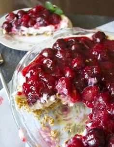Cherry Cream Pie with a Granola Crust | BetsyLife