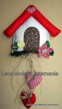 *** LeCa MOLECA Artemania ***: Casinha em feltro e tecido