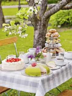 "Swedish fika table at Grythyttan Inn. ""Fika"" - The Swedish coffee hour, or fika break, is a combination of coffee and chatting. A ""fika"" is not complete without buns, cookies or cakes, and has been popular since the second half of the 1800s."