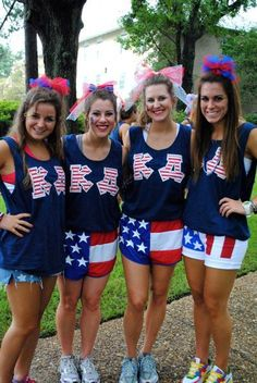 kappa delta--Cute frat tanks. Could be cute for an America themed bid day