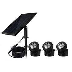 Pond Equipment - Solar Powered Pond Light Waterproof IP68 BeneStellar 18 LED and 3 RGB Colors Changing Park  Garden  Pool  Underwater  Outdoor Landscape Lighting * Read more reviews of the product by visiting the link on the image.