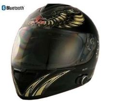 073813cda1 Vcan V136B Built in Bluetooth Full Face Motorcycle Helmet Flat Black  Avaitor