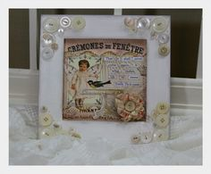 Sweet embellished picture and frame