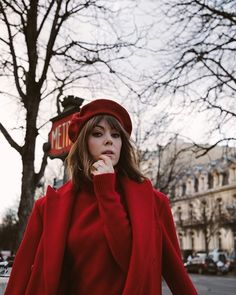 All Red Parisian Chic