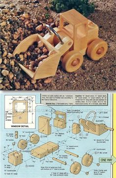 Wooden Front End Loader Plans - Wooden Toy Plans and Projects | http://WoodArchivist.com
