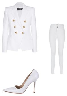 """""""All White Summer outfit"""" by stylesbyfashionistalex on Polyvore"""