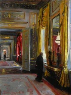 """""""Albertina Museum"""" by Jonelle Summerfield - http://www.ugallery.com/jonelle-summerfield  - oil painting"""