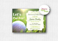 Golf Retirement Invitation Printable File DIY - Golf Birthday ...