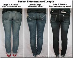 It's not you, it's the jeans! This is a really great post on how to find the best fitting jeans for you no matter your body type. Most important thing you could learn from this post is her rules on pocket size and placement that could be making your butt look much bigger than it actually is.