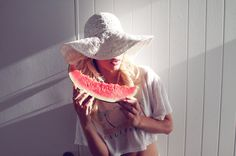 Wildfox.girl with watermelon  GG's tiny times