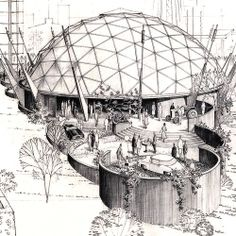 1962 - Seattle World's Fair - Ford geodesic dome by TC Howard of Synergetics, Inc