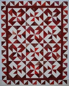 The Double Nickel Quilt Challenge: Twist and Turn quilt! Fun HST from charm pack