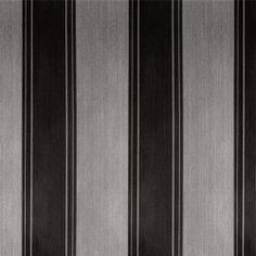 Diseño basado en líneas rectas negro y gris en este papel pintado de la colección Rayas de Parati.