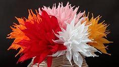 Hoe maak je crepe papier anjers? Leuke feest versiering! DIY - YouTube