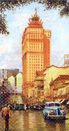 Avenida São João, início do século XX, por Henrique Passos