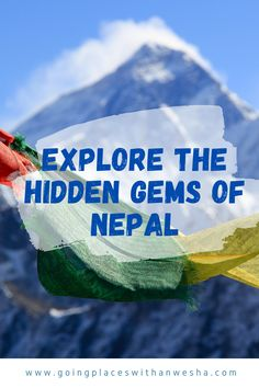 Nepal is known all over the world for its spectacular mountains, its rich cultural ambiance, rolling valleys, picturesque villages, and sundry wildlife. However, Nepal has much more places to offer than its most visited Golden Triangle – Kathmandu, Pokhara, and Chitwan. You may want to go off the beaten path and explore the less-trodden destinations every once in a while to truly take in the beauty and repose of Nepal. #ExploreNepal #HiddenGemsofNepal . Beautiful Places To Visit, Beautiful Beaches, Asia Travel, Travel Tips, Travel Nepal, Nepal Culture, Honeymoon Photography, Road Trip Destinations, Travel Around The World