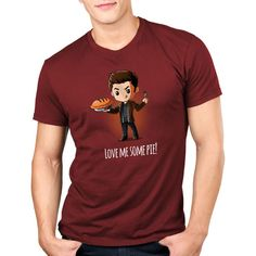 Love Me Some Pie! - This official Supernatural t-shirt featuring Dean Winchester is only available at TeeTurtle!