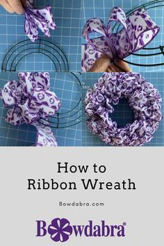 Ribbon Wreath Tutorial, Mesh Ribbon Wreaths, Fabric Wreath, Diy Ribbon, Ribbon Crafts, Wreath Crafts, Diy Wreath, Wreath Making, Wreath Ideas