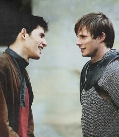 Colin Morgan and Bradley James onset as Merlin and Arthur