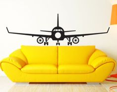 Airplane Wall Decal Room Art Decor Sticker Vinyl Wall Art