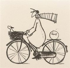 Sam Toft -- Out for a spin. via Filomena Camargo Bicycle Drawing, Bicycle Art, Cartoon Drawings, Art Drawings, Anime Comics, Encaustic Art, Cycling Art, Art Plastique, Rock Art
