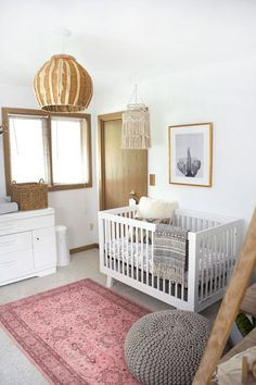 This type of girls room decoration is undeniably a remarkable design technique. This type of girls room decoration is undeniably a remarkable design technique. Bohemian Nursery, Chic Nursery, Rustic Nursery, Nursery Neutral, Nursery Room, Girl Nursery, Nursery Decor, Nursery Ideas, Baby Room