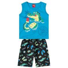 Conjunto infantil menino em meia malha e moletom - Kyly Fashion Kids, Kids Pajamas, How To Memorize Things, Baby Boy, Rompers, Graphics, Boys, Sweet, Pretty
