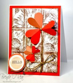 Honoring Lydia aka Understandblue by Benzi - Cards and Paper Crafts at Splitcoaststampers...Case of card by Lydia aka understandblue...Delft tile card