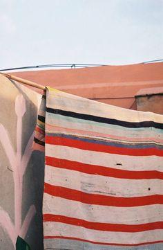 stripes and peachy hues