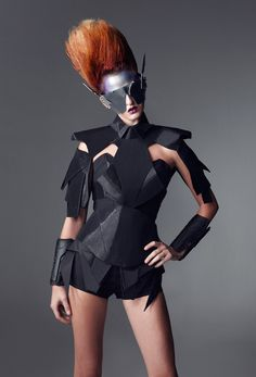 @missmetaverse | Future Fashion | detail | structure | design | style | futuristic | wearable art | black | high fashion | couture | Schomp BMW
