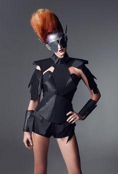 Futuristic fashion by Thai designer Ten Out Of Ten - Bleaq - Fashion Show Arte Fashion, Fashion Moda, Editorial Fashion, Runway Fashion, Fashion Show, Fashion Trends, Trendy Fashion, High Street Fashion, Fashion Black