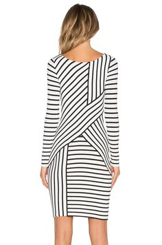 Bailey 44 Deconstruction Dress en Cream Stripe | REVOLVE