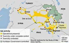 Territorio attualmente controllato dallo #StatoIslamico (ex #ISIS) tra #Siria e #Iraq.