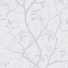 Colours Silverbell Silver Tree Wallpaper