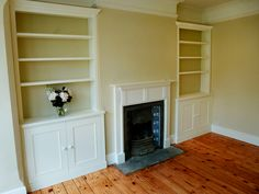 Built in Cabinets, Alcove Cupboards & Built in Cupboards Alcove Cupboards, Built In Cupboards, Bedroom Cupboards, Cupboard Doors, Alcove Storage, Alcove Shelving, Victorian Living Room, Victorian Fireplace, Victorian House