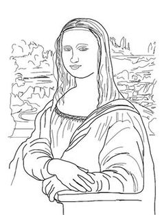 Coloring Pages  Mona Lisa Japanese Bridge Sleeping Gypsy and