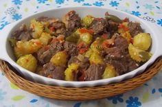 Cozido de Carne com Maxixe - Na Biroskinha